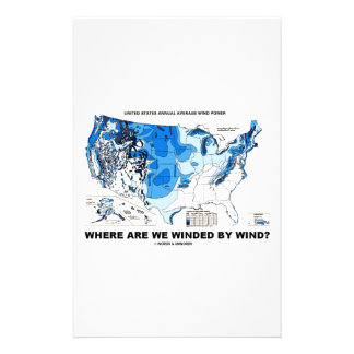 Where Are We Winded By Wind? (Wind Power) Stationery