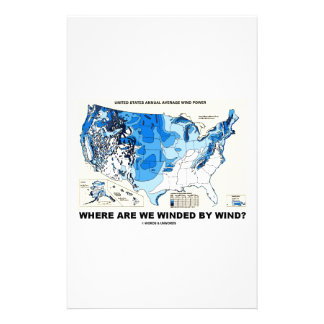 Where Are We Winded By Wind? (Wind Power) Personalized Stationery