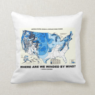 Where Are We Winded By Wind? (Wind Power) Throw Pillow