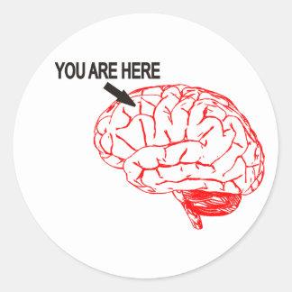 Where are you? classic round sticker