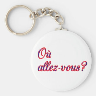 Where Are You Going? Keychain
