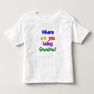 Where are you hiding Grandma? Dark Skin Grandma Toddler T-shirt