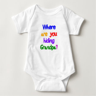 Where are you hiding Grandpa? Light Skin Grandpa Baby Bodysuit