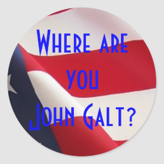 Where are you John Galt? Classic Round Sticker