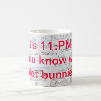 Where are your plot bunnies? coffee mug
