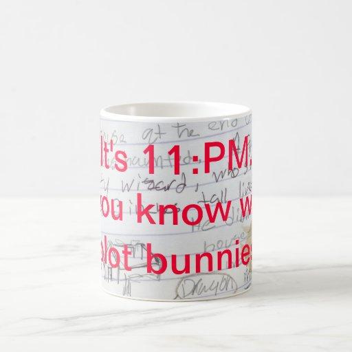 Where are your plot bunnies? classic white coffee mug