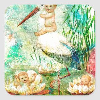WHERE BABIES COME FROM 2.jpg Square Sticker