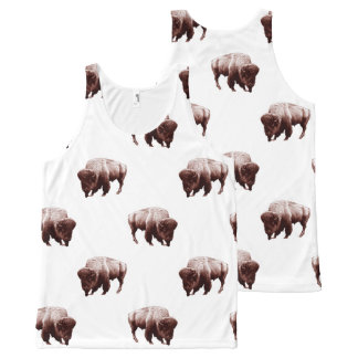 Where Buffalo Roam by Aleta All-Over-Print Tank Top