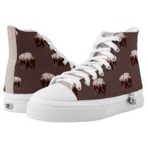 Where Buffalo Roam Chocolate Brown Fields High-Top Sneakers
