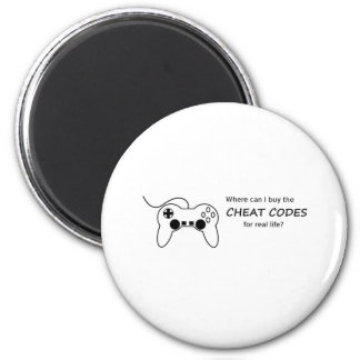 Where can I buy the cheat codes for real life? 2 Inch Round Magnet