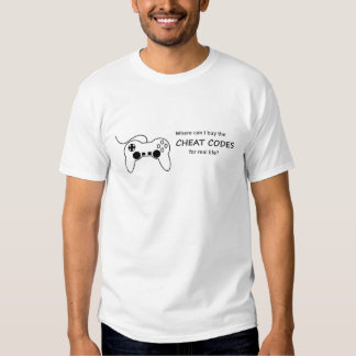 Where can I buy the cheat codes for real life? Tshirt