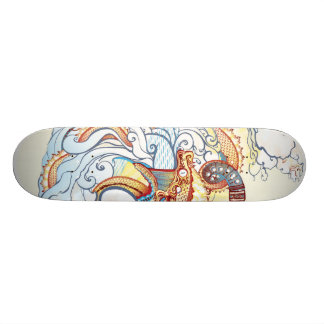 Where clouds come from skateboard deck