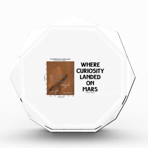Where Curiosity Landed On Mars (Martian Surface) Acrylic Award