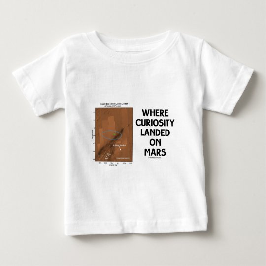 Where Curiosity Landed On Mars (Martian Surface) Baby T-Shirt