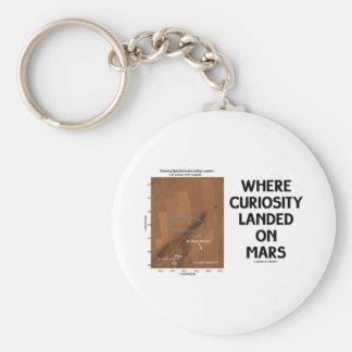 Where Curiosity Landed On Mars (Martian Surface) Basic Round Button Keychain
