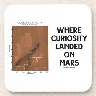 Where Curiosity Landed On Mars (Martian Surface) Coaster