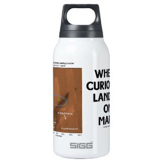 Where Curiosity Landed On Mars (Martian Surface) Insulated Water Bottle