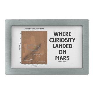 Where Curiosity Landed On Mars (Martian Surface) Rectangular Belt Buckle