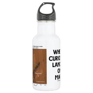 Where Curiosity Landed On Mars (Martian Surface) Stainless Steel Water Bottle