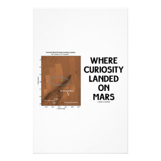 Where Curiosity Landed On Mars (Martian Surface) Stationery