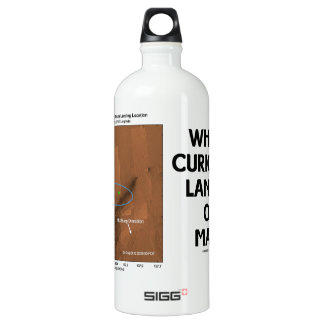 Where Curiosity Landed On Mars (Martian Surface) Water Bottle