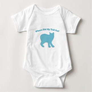Where did my tail go? baby bodysuit