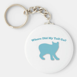 Where did my tail go? basic round button keychain