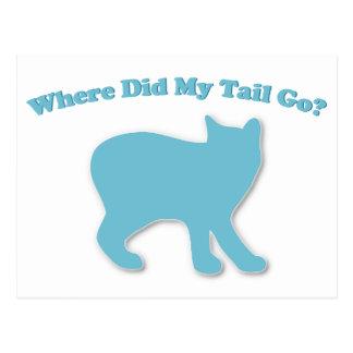 Where did my tail go? postcard