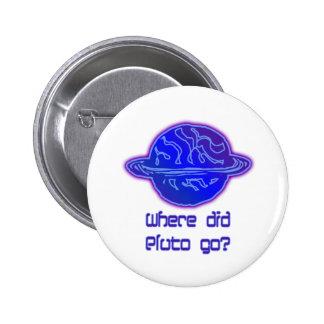 Where Did Pluto Go? 2 Inch Round Button