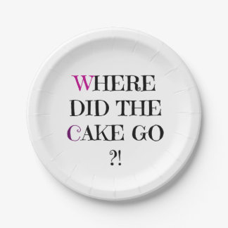 Where did the Cake Go Paper Plate