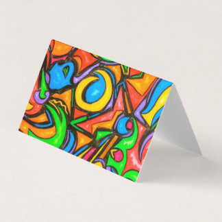 Where Did You Hide The Candy?-Abstract Art Business Card