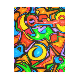 Where Did You Hide The Candy? - Abstract Art Canvas Print