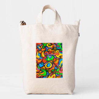 Where Did You Hide The Candy? - Abstract Art Duck Bag