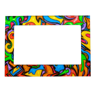 Where Did You Hide The Candy? - Abstract Art Magnetic Picture Frame