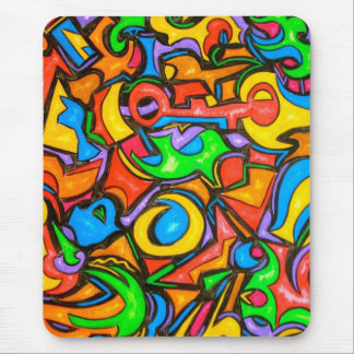 Where Did You Hide The Candy-Abstract Art Mouse Pad