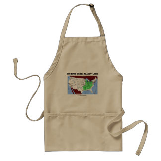 Where Dixie Alley Lies (United States Map) Adult Apron