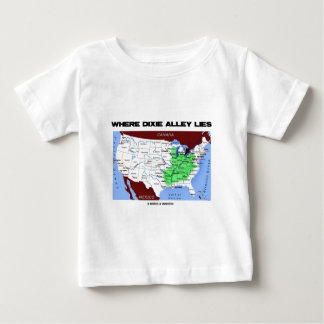 Where Dixie Alley Lies (United States Map) Baby T-Shirt