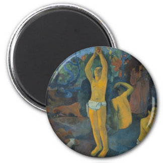 'Where Do We Come From?' - Paul Gauguin Button Magnet