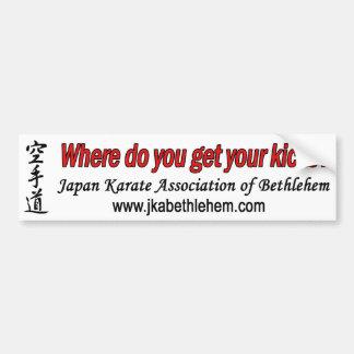 Where do you get your kicks bumper sticker