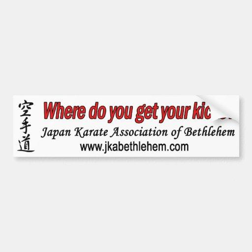 Where do you get your kicks car bumper sticker