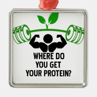 Where do you get your protein metal ornament