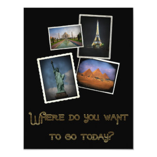 Where Do You Want to Go? 4.25x5.5 Paper Invitation Card