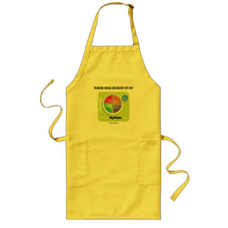 Where Does Dessert Fit In? (MyPlate Humor) Long Apron