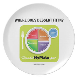 Where Does Dessert Fit In? (MyPlate Humor) Plate