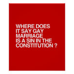 WHERE DOES IT SAY GAY MARRIAGE IS A SIN PRINT