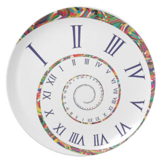 Where Does the Time Go? Melamine Plate