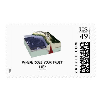 Where Does Your Fault Lie? Geology Humor Postage Stamp