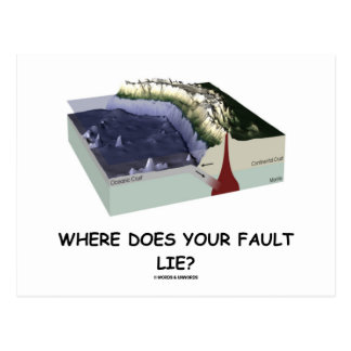 Where Does Your Fault Lie? (Geology Humor) Post Cards