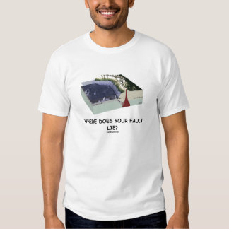 Where Does Your Fault Lie? (Geology Humor) Tee Shirt