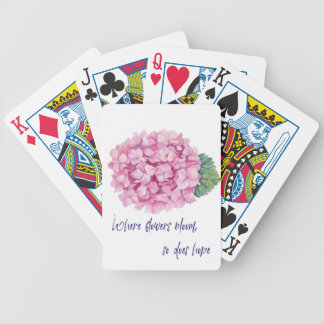 Where flowers bloom bicycle playing cards
